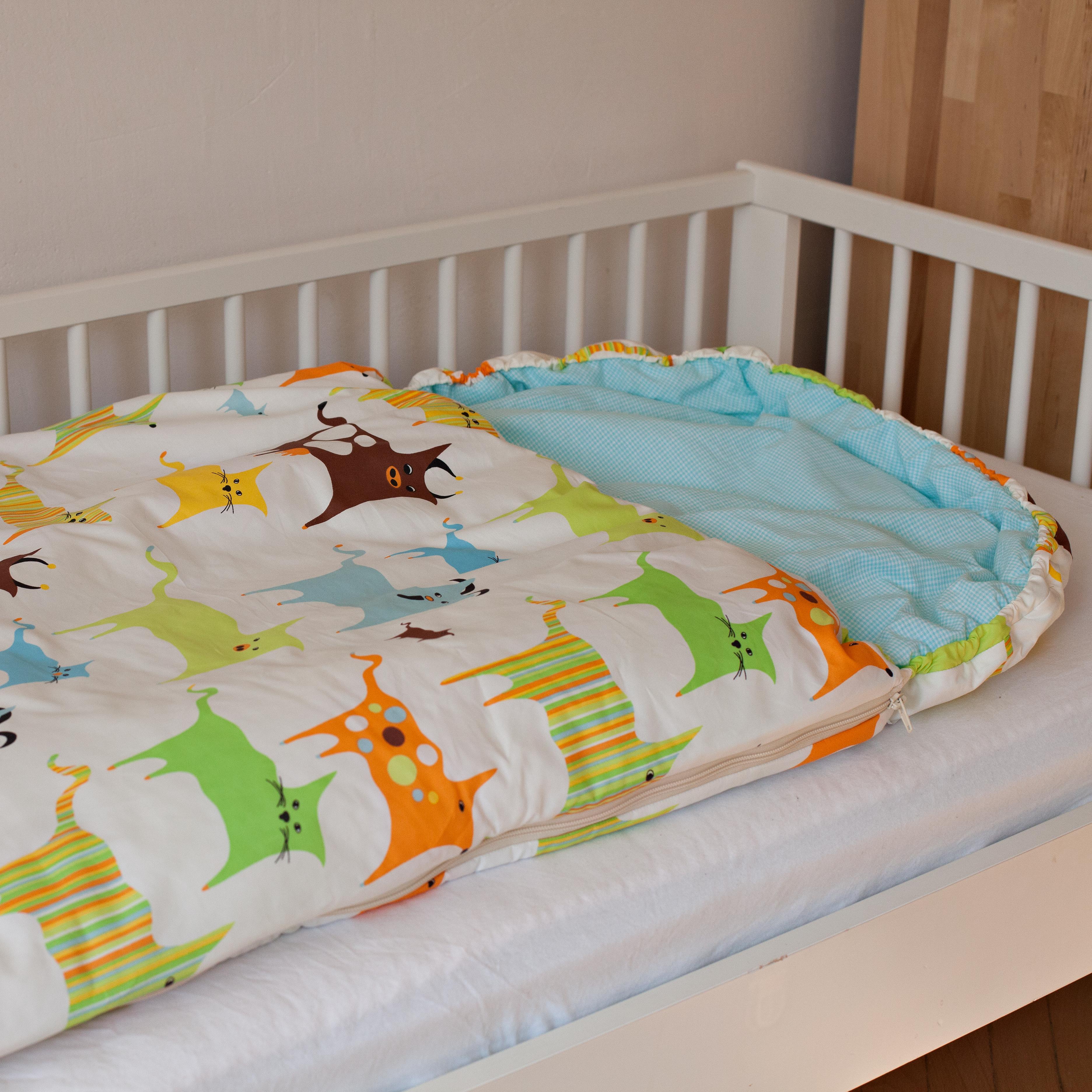 Dětský spací pytel Zvířátka 180x70cm