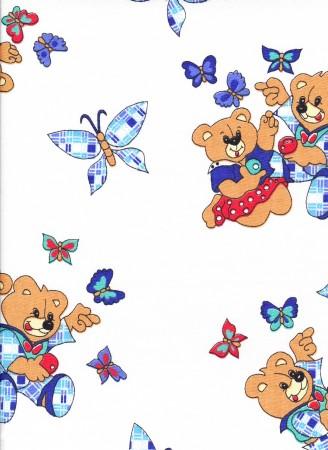 Krepové povlečení Medvídci bílé (135x90cm+40x60cm) - ...