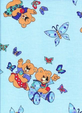 Bavlněné povlečení Medvídci modré (135x90cm+40x60cm) ...