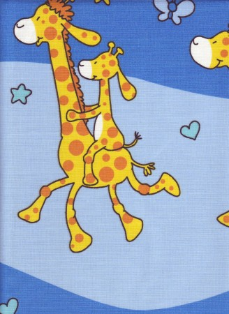 Bavlněné povlečení Žirafy modré (135x90cm+40x60cm) - ...