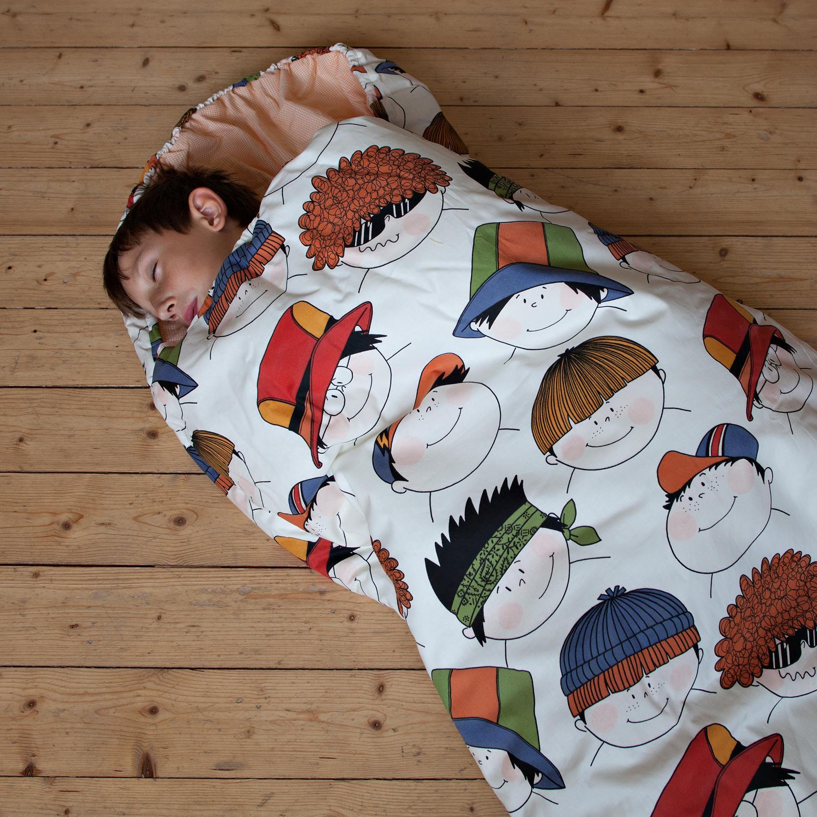 Dětský spací pytel Veselé obličeje 200x70 cm