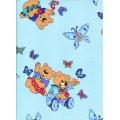 Bavlněné povlečení Medvídci modré (135x90cm+40x60cm) - od 20 ks