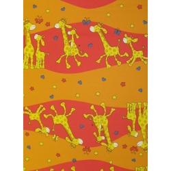 Bavlněné povlečení Žirafy červené (135x90cm+40x60cm) - od 20 ks
