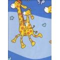 Bavlněné povlečení Žirafy modré (135x90cm+40x60cm) - od 20 ks