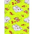 Krepové povlečení Sloni Myši zelené(135x90cm+40x60cm) - od 20 ks