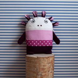 Polštářek Pyžamožrout růžovo-fialový 35x30cm