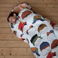 Dětský spací pytel Veselé obličeje 180x70cm