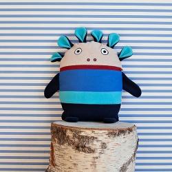 Polštářek Pyžamožrout modrý velký 35x30cm