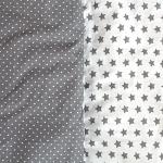 Dětský spací pytel Hvězdičky šedý 165x70 cm