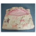 Dětský spací pytel Růžová zvířátka 180x70 cm