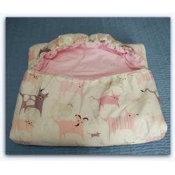 Dětský spací pytel Růžová zvířátka 70x200 cm
