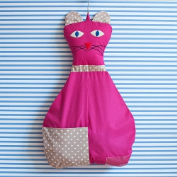 Závěsný kapsář Kočka - růžový