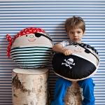 Dekorační polštářek Pirát Jonáš 40x40cm