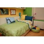 Dětský přehoz na postel zelený