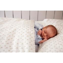 Povlečení Puntík - baby béžové (135x90 cm+40x60 cm)