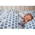 Povlečení Puntík - baby modré (135x90 cm+40x60 cm)