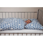 Povlečení Puntík - baby modré (135x90 cm+50x70 cm)