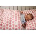 Povlečení Puntík - baby růžové (135x90 cm+40x60 cm)