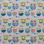 Bavlněné povlečení Sovičky modré (135x90 cm + 40x60 cm)