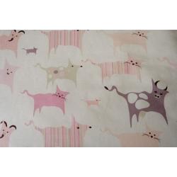 Povlečení Zvířátka – baby růžové (90x135cm+40x60cm)