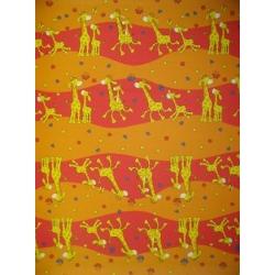 Krepové povlečení Žirafy oranžové (135x90cm+40x60cm) - od 20 ks