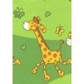Krepové povlečení Žirafy zelené (135x90cm+40x60cm) - od 20 ks
