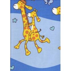 Krepové povlečení Žirafy modré (135x90cm+40x60cm) - od 20 ks