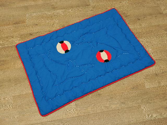 Hrací deka pro miminka modrá