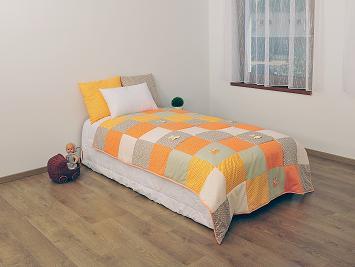 Dětský přehoz Šaty - patchwork 140x200 cm + polštářky