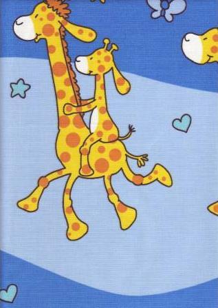 Krepové povlečení Žirafy modré (135x90cm+40x60cm) - od ...